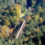 The bridge of the cycling path in Fusine